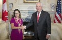 Тіллерсон і Фріланд провели зустріч: обговорювали, серед іншого, питання України та КНДР