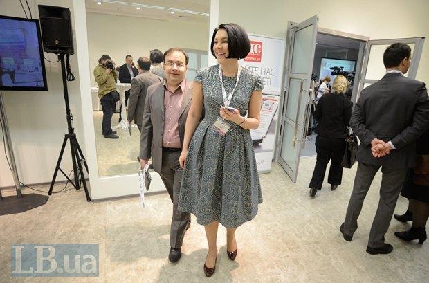 Соня Кошкина, шеф-редактор интернет-издания LB.ua и главный редактор LB.ua Олег Базар