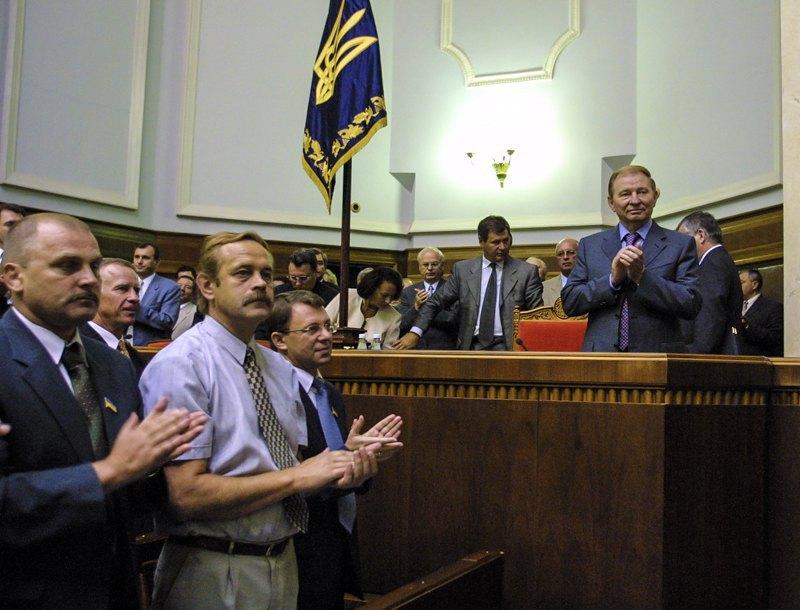 Урочисте засідання Верховної Ради з нагоди 10-річчя Незалежності України, внесення Державного прапору, 22 серпня 2001 року