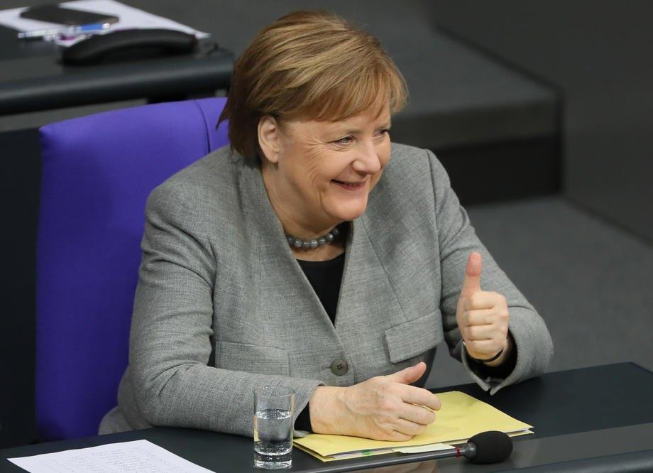 Канцлер Німеччини Ангела Меркель під час засідання Бундестагу, Берлін, 30 січня 2020 р.