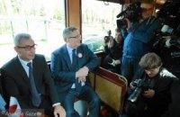 Президент Польщі потрапив у ДТП на ретро-трамваї