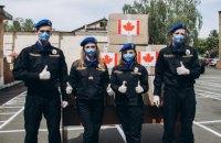 Канадська поліцейська місія передала Нацгвардії України 17 тис. респіраторів