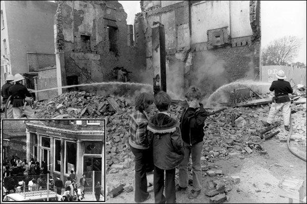 Спалена будівля пабу «Вінздорський замок»