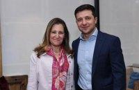 Зеленський і голова МЗС Канади обговорили боротьбу з корупцією і ситуацію на Донбасі