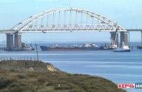 Россия закрыла Керченский пролив транспортным судном (обновлено)