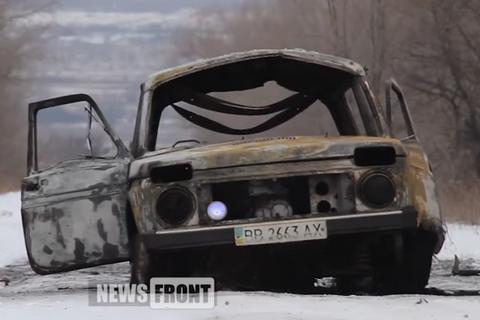 Возле Славяносербска на территории ОРЛО подорвался автомобиль, погиб гражданский