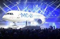 """Росія відклала виробництво """"конкурента Boeing"""" через американські санкції"""