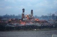 У Чернігівській області згоріли 16 будівель