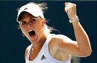 US Open: Возняцки и Шуай разгромили своих соперниц по 1/4 финала