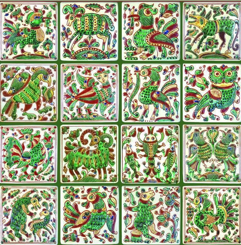 Пример росписи косовской керамики