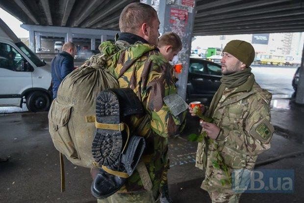 Бойцы 72-ой бригады, прибывшие в Киев