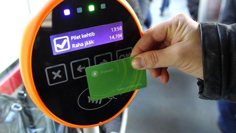 В естонському місті Нарва ввели систему електронного квитка в громадському транспорті в лютому 2016 року