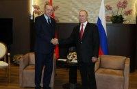 Ердоган та Путін на зустрічі обговорили торгівлю, енергетику та ситуацію в Сирії
