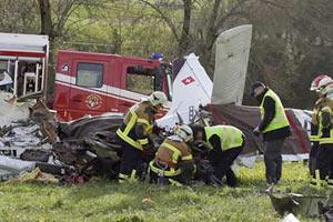 В Швейцарии упал самолет, есть погибшие