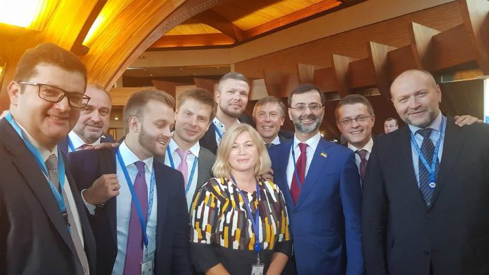 Делегаты украинской делегации в ПАСЕ