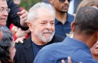 Бывший президент Бразилии Лула да Силва вышел на свободу