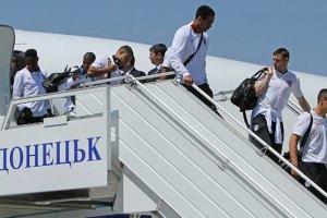 В Донецк прилетела сборная Англии