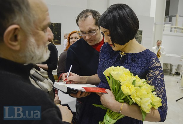 Редактор censor.net.ua Юрий Бутусов и Соня Кошкина