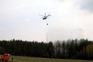 В Чернобыльской зоне горит 320 га леса (обновлено)