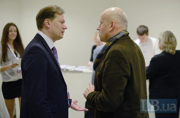 Олег Рыбачук, экс-вице-премьер-министр Украины(справа) и Дмитрий Остроушко, эксперт руководитель международных программ Института Горшенина