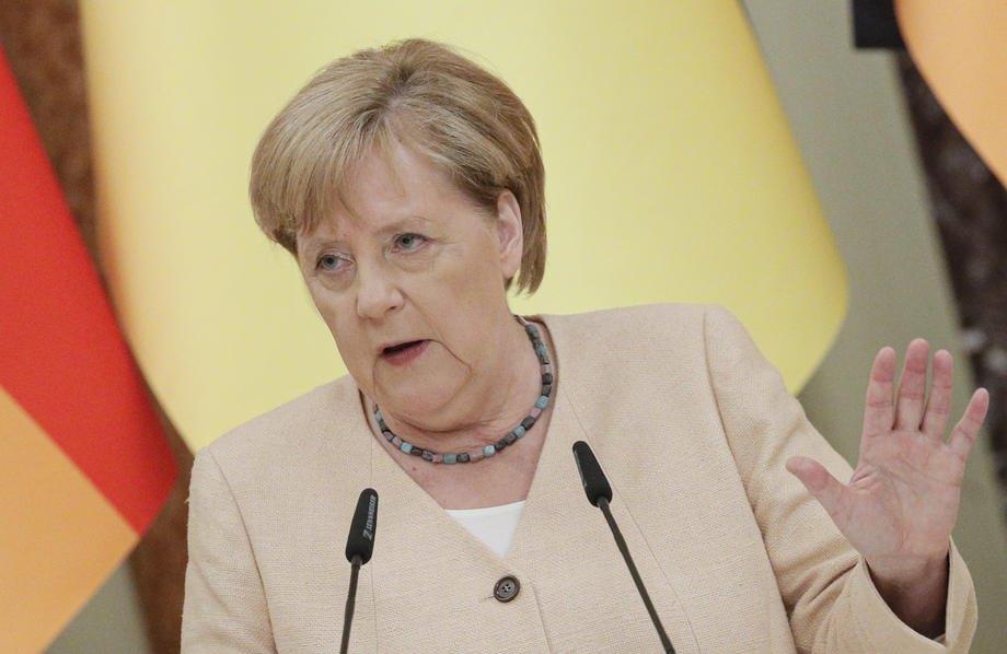 Меркель під час перемовин із Зеленським, 22 серпня 2021 року