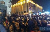"""На Европейской площади начинаются стычки между """"Беркутом"""" и митингующими"""