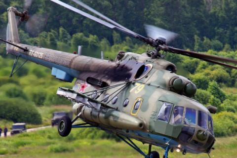 Военный вертолет Ми-8 разбился в Подмосковье