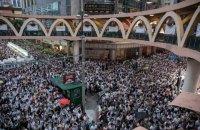 В Гонконге около миллиона людей митинговали против возможности экстрадиции в Китай