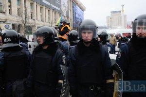 Внутренние войска продолжают держать в оцеплении центр Киева
