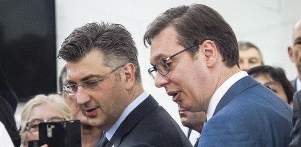 Президент Сербии Александр Вучич и премьер Хорватии Андрей Пленкович