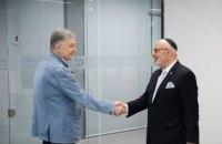 Порошенко зустрівся із ізраїльским послом і підтримав право Ізраїлю на самооборону