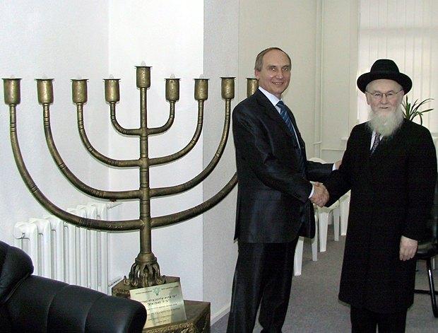 Игорь Козловский и главный раввин Украины Аэриэль Хайкин, 2005