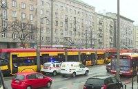 В Варшаве столкнулись три трамвая, есть пострадавшие
