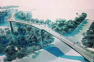 Між Володимирською гіркою і аркою Дружби народів побудують міст