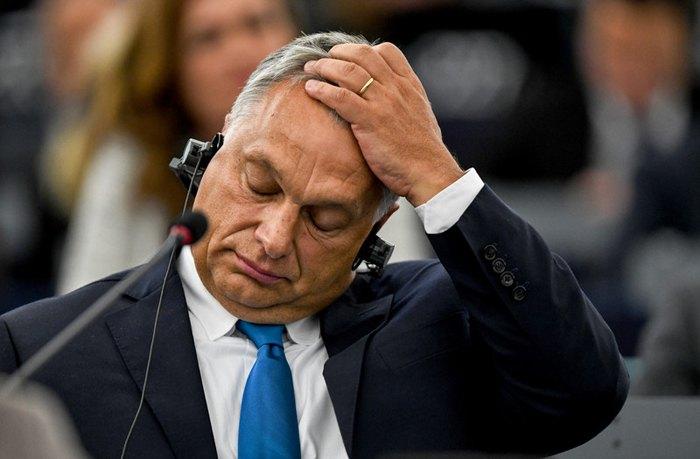 Премьер-министр Венгрии Виктор Орбан во время пленарного заседании в Европейском парламенте в Страсбург, Франция, 11 сентября 2018.