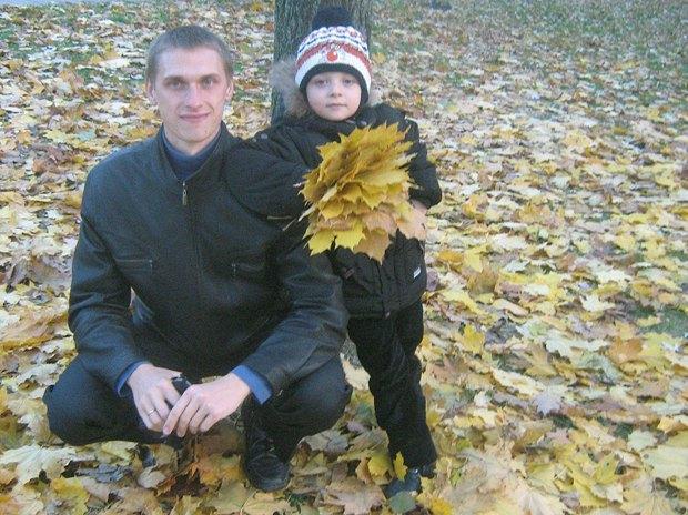 Сергей с сыном - до войны