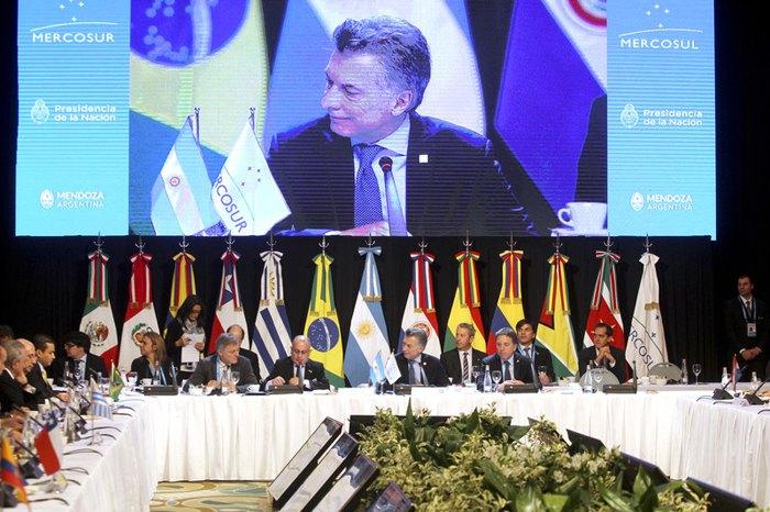 Cаммит глав государств Mercosur в Мендосе, Аргентина, 21 июля 2017.