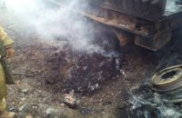Три бойца ранены возле Авдеевки из-за подрыва грузовика на мине