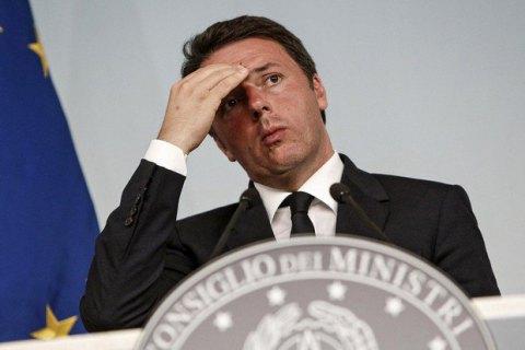 Президент Італії попросив Ренці відкласти відхід з поста прем'єра
