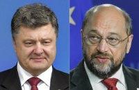 Шульц рассчитывает на положительное решение Европарламента по безвизовому режиму с Украиной