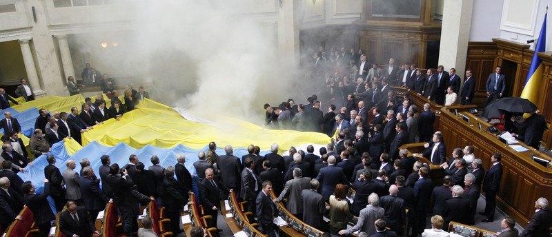 У день голосування щодо ратифікації Харківських угод у парламенті, Київ, 27 квітня 2010 року