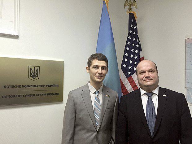 Валерий Голобородько и Посол Украины в США Валерий Чалый