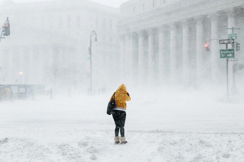 Непогода в Нью-Йорке