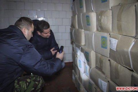 В житомирской столовой нашли полторы тысячи армейских сухпайков