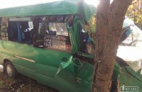 В Кривом Роге маршрутка врезалась в дерево, 11 пострадавших