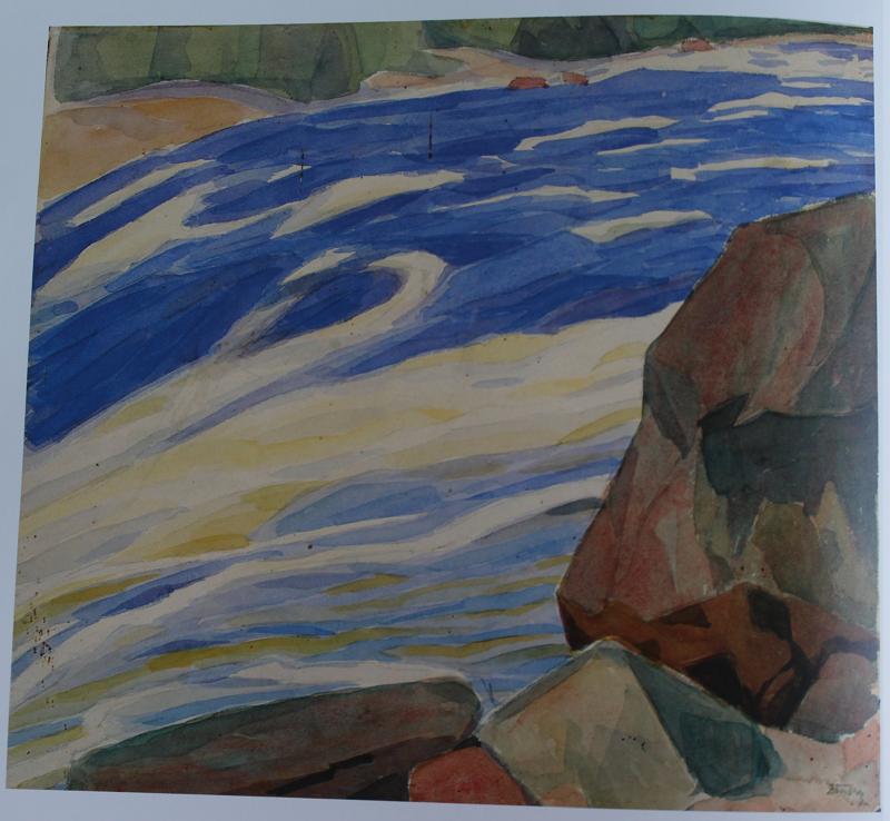 О.Богомазов «Потік та камені. (Річка Істра-І)»