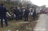 У Каменца-Подольского перевернулся рейсовый автобус, восемь человек травмировались