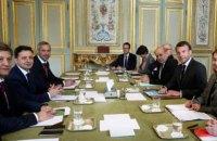Президент Франции провел встречу с Зеленским