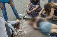На улице Протасов Яр в Киеве автомобиль сбил двух человек на переходе