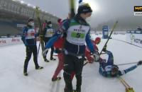 Скандалом с участием сборной России завершилась лыжная эстафета на этапе Кубка мира
